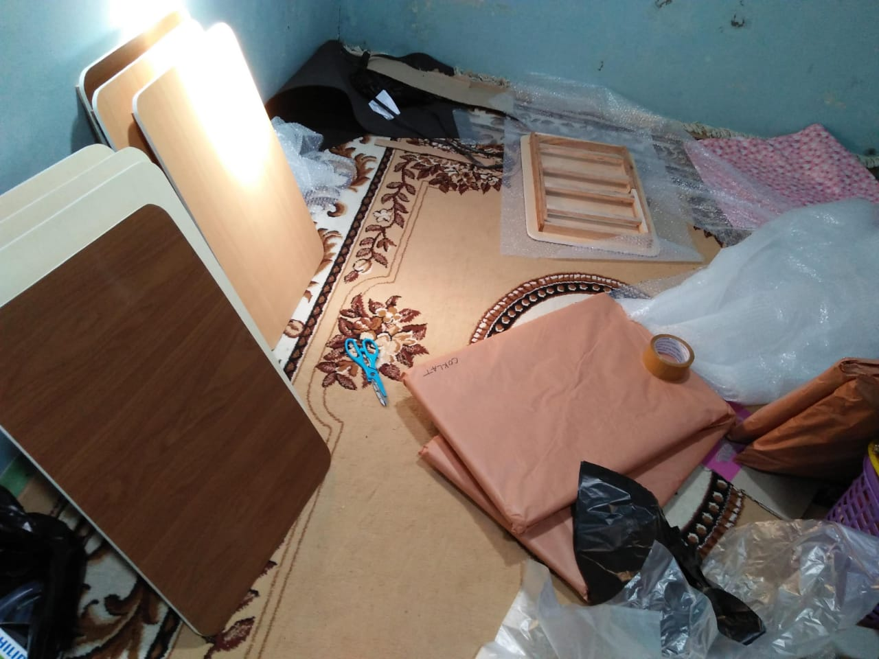 Packing meja lipat murah aman